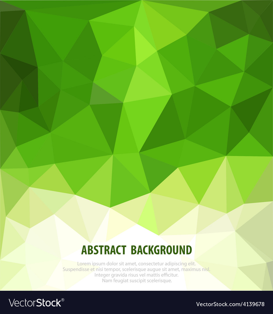 Abstract green background with mosaic for business vector | Price: 1 Credit (USD $1)