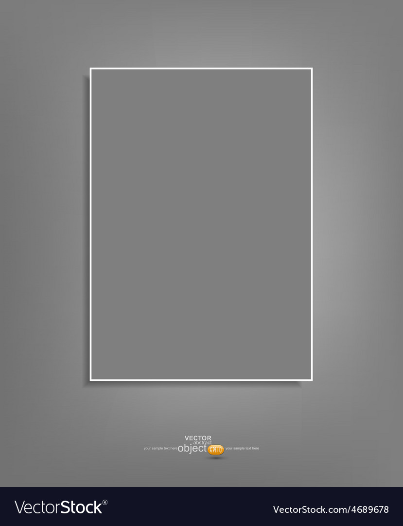 Background with a gray sheet of paper hanging vector | Price: 1 Credit (USD $1)