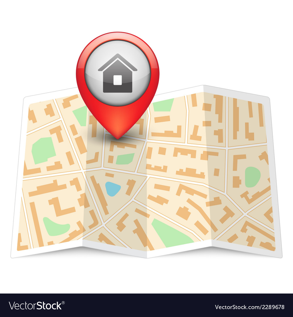 City map with label pin vector   Price: 1 Credit (USD $1)