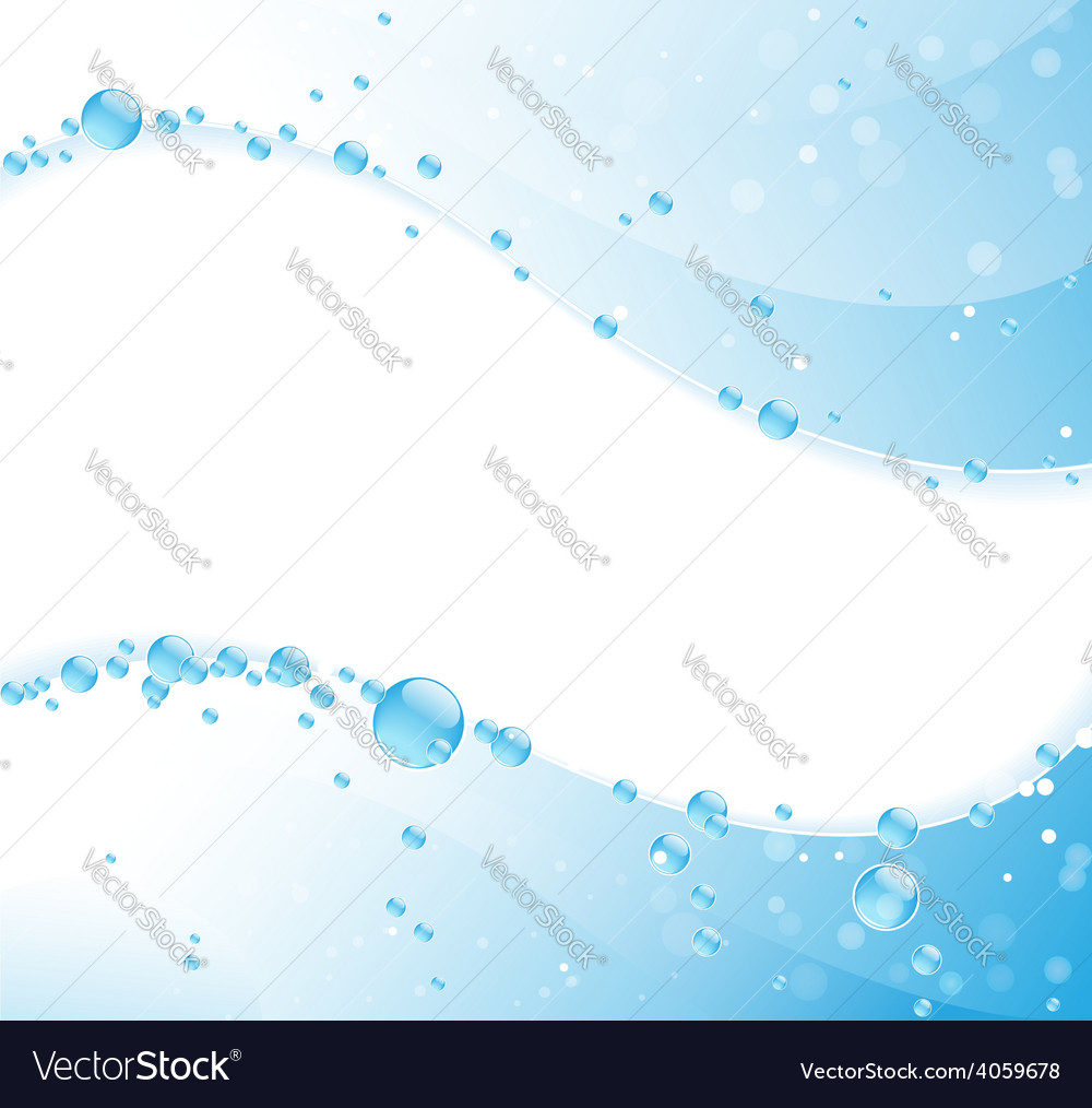 Clear water waves vector | Price: 1 Credit (USD $1)