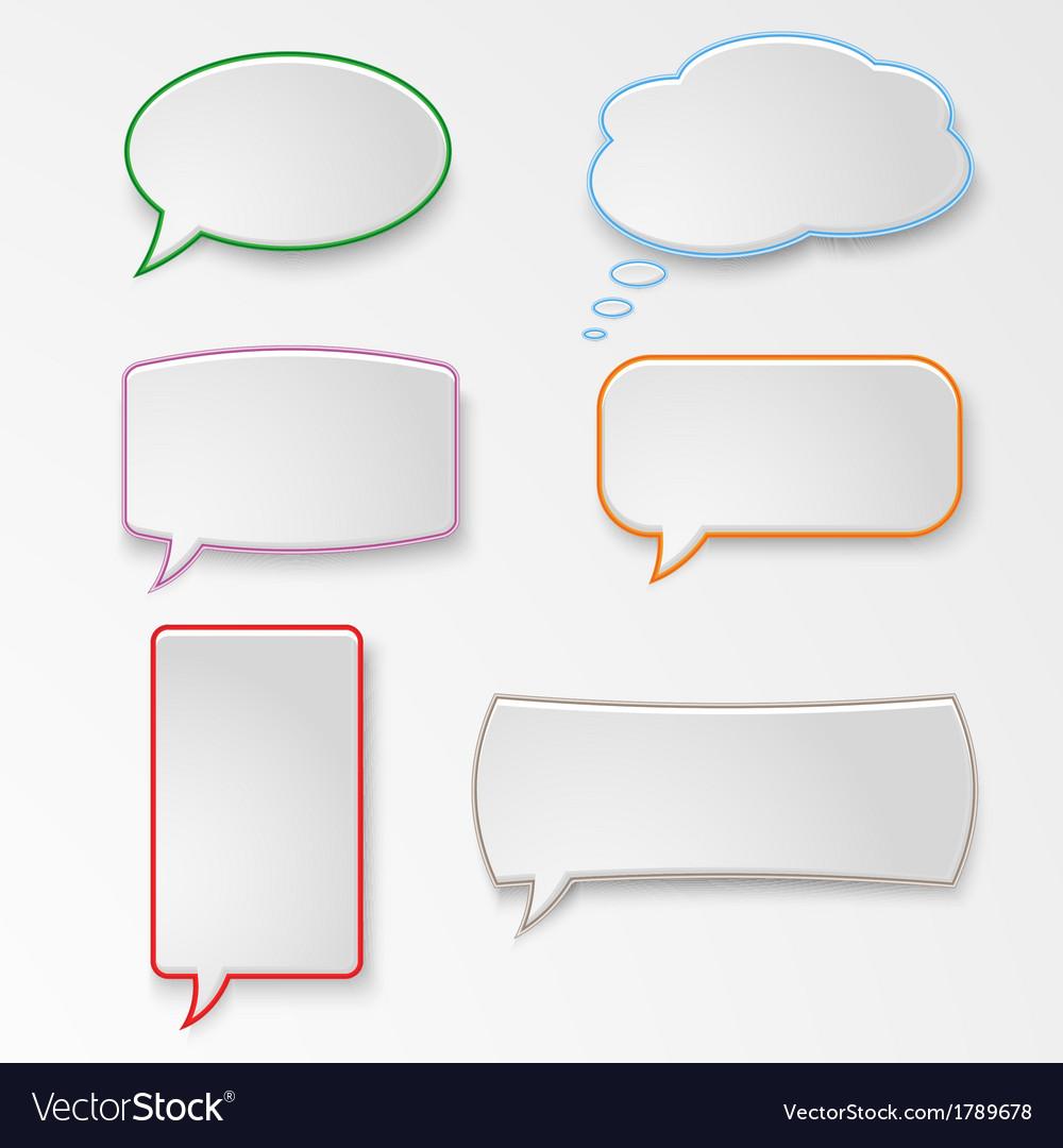 Colorful set speech bubbles vector | Price: 1 Credit (USD $1)