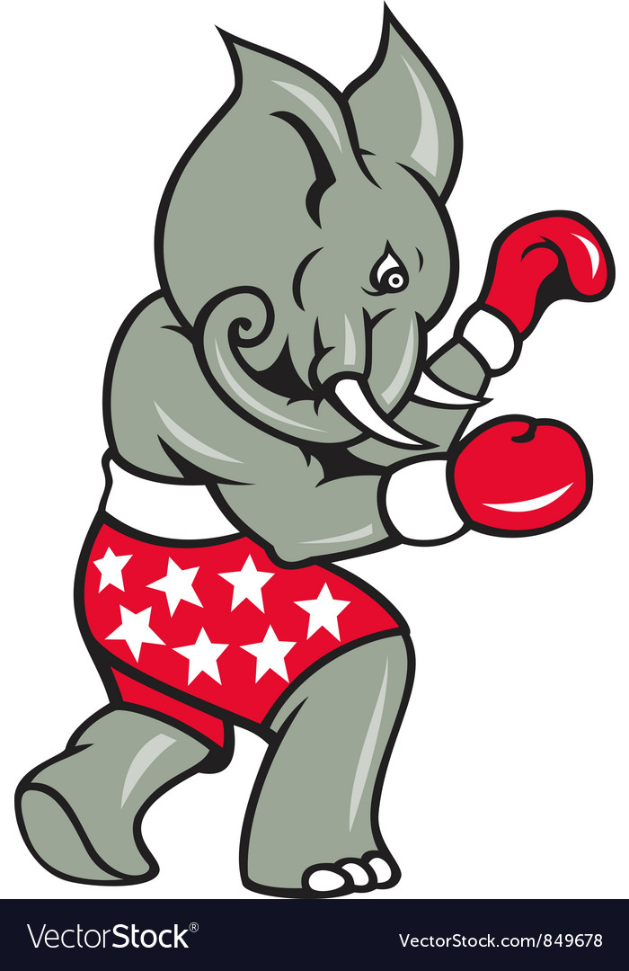 Elephant boxer boxing stance vector | Price: 3 Credit (USD $3)