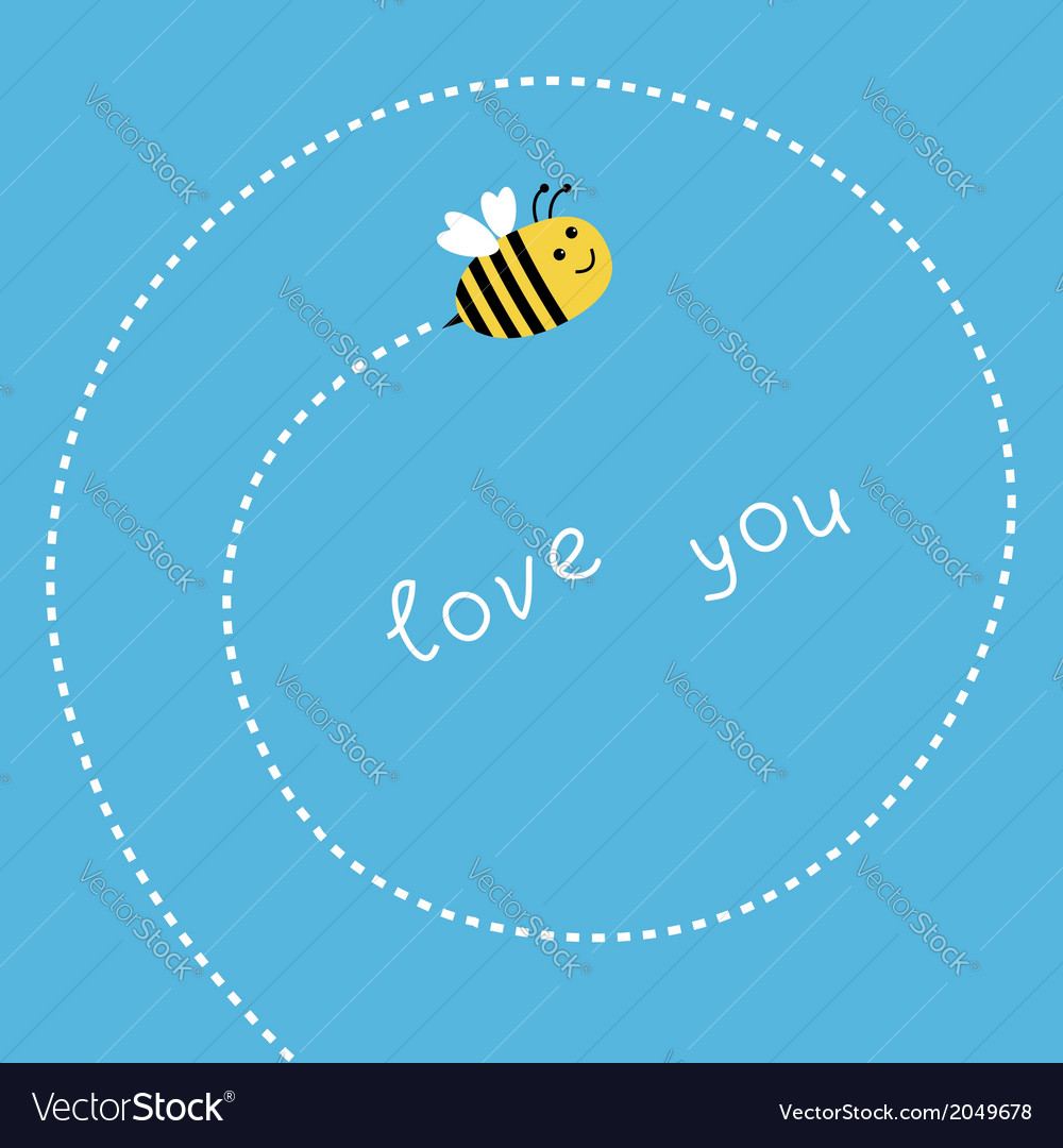 Flying bee dash spiral in the sky card vector | Price: 1 Credit (USD $1)