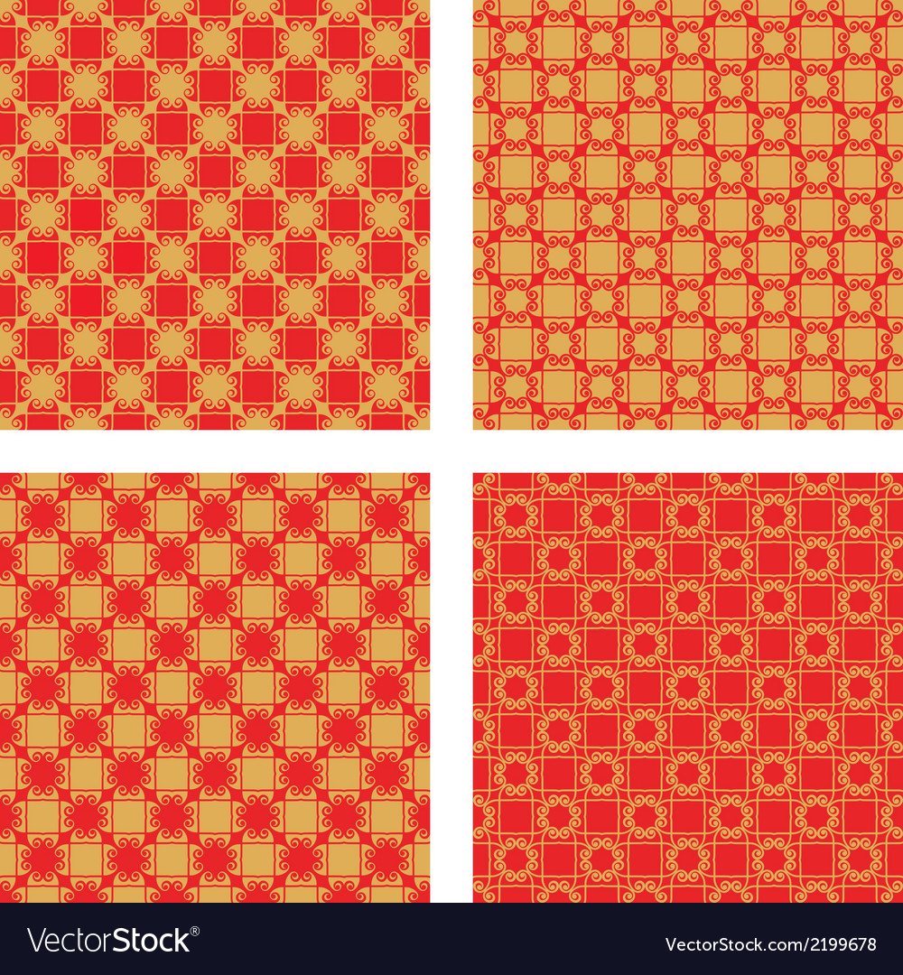 Red and golden pattern vector | Price: 1 Credit (USD $1)