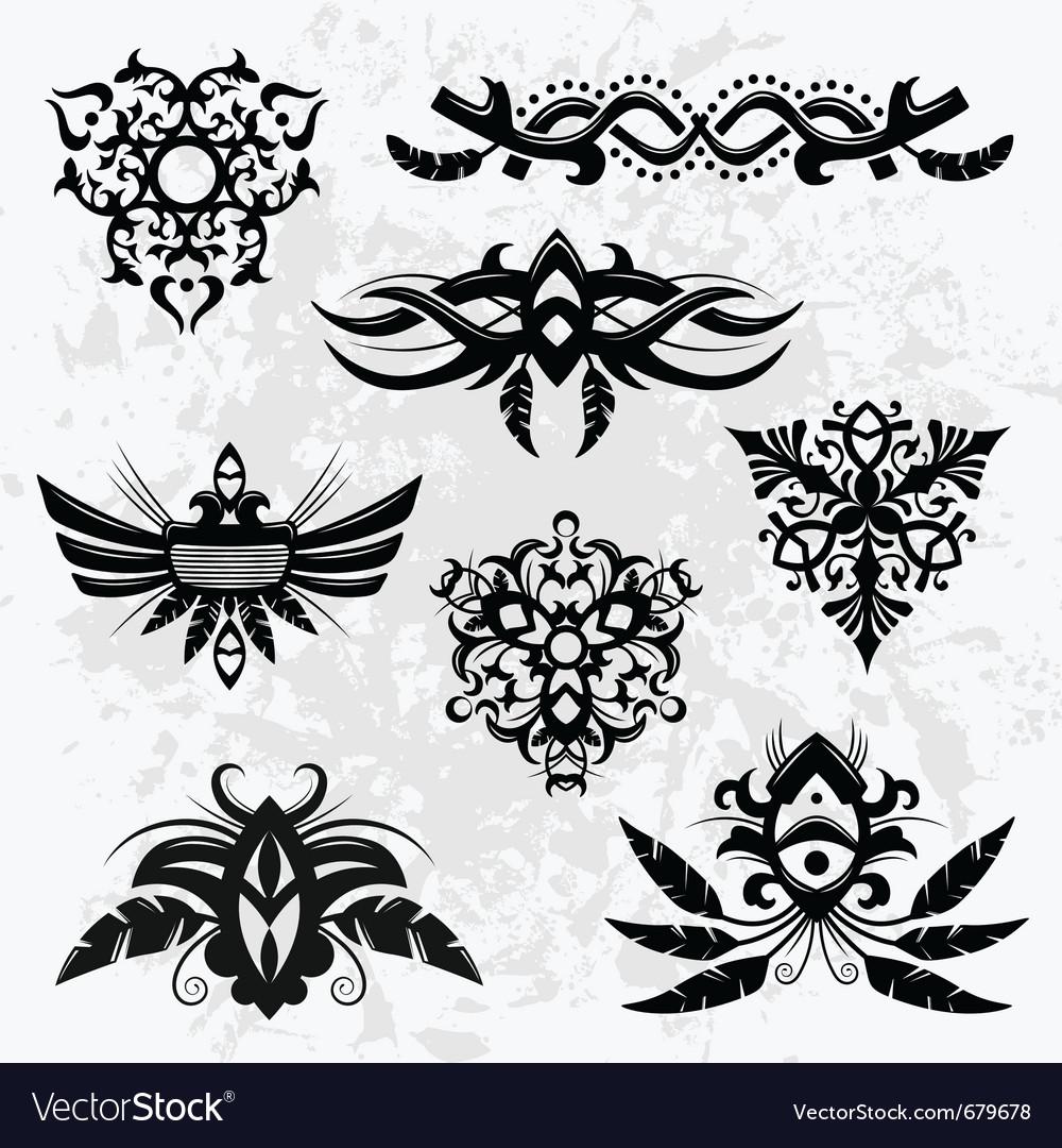 Tribal designs vector | Price: 3 Credit (USD $3)