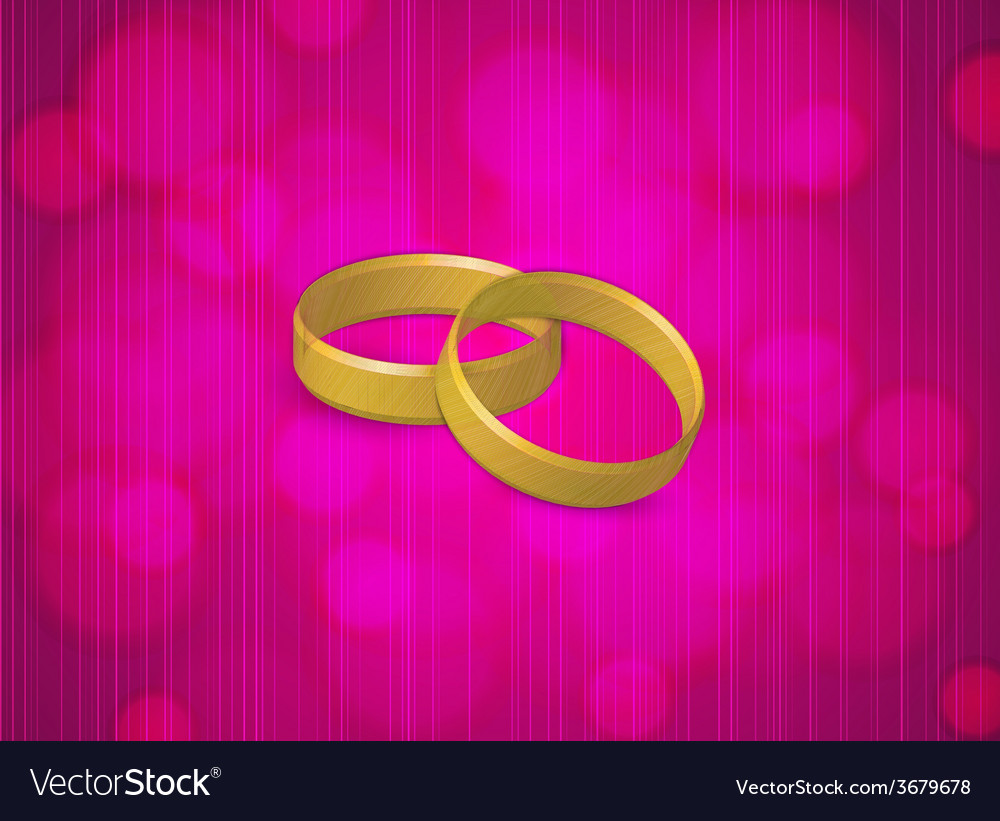 Two gold rings vector | Price: 1 Credit (USD $1)