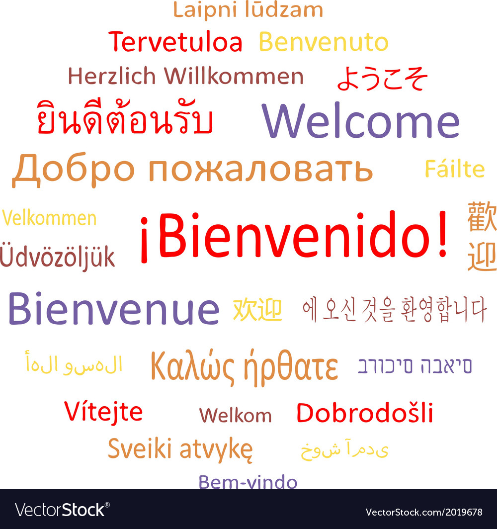 Welcome in different languages vector | Price: 1 Credit (USD $1)