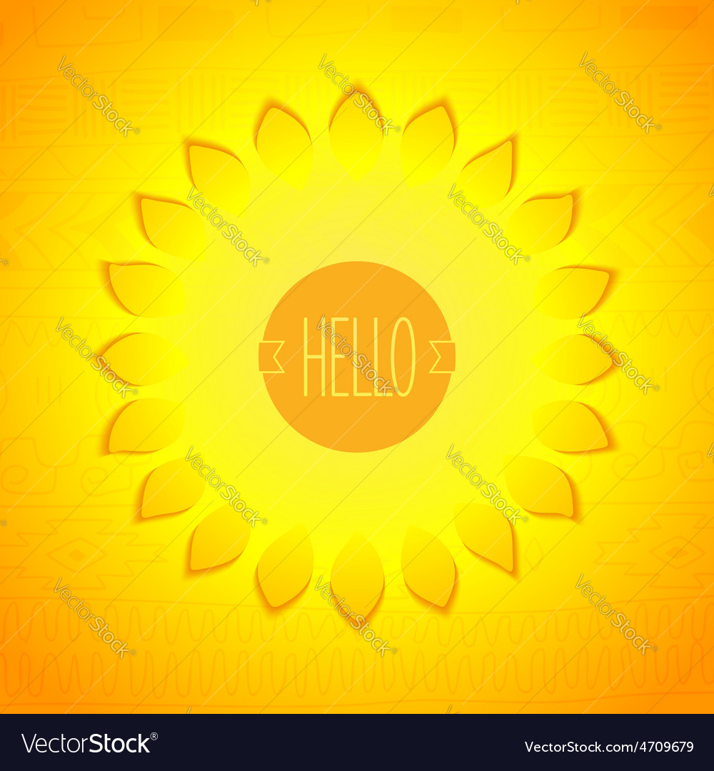 Abstract sunshine design vector | Price: 1 Credit (USD $1)