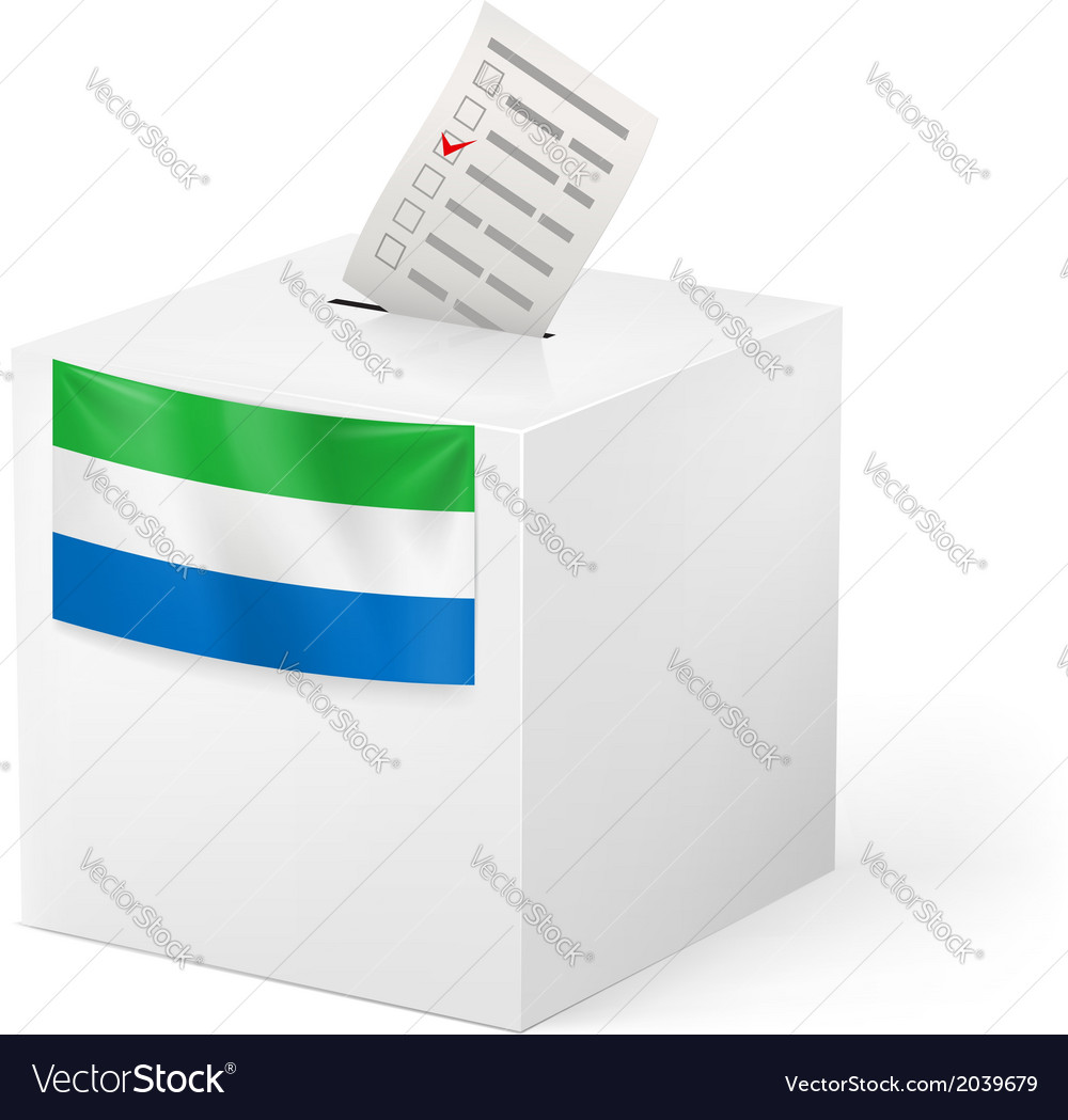 Ballot box with voting paper sierra leone vector | Price: 1 Credit (USD $1)