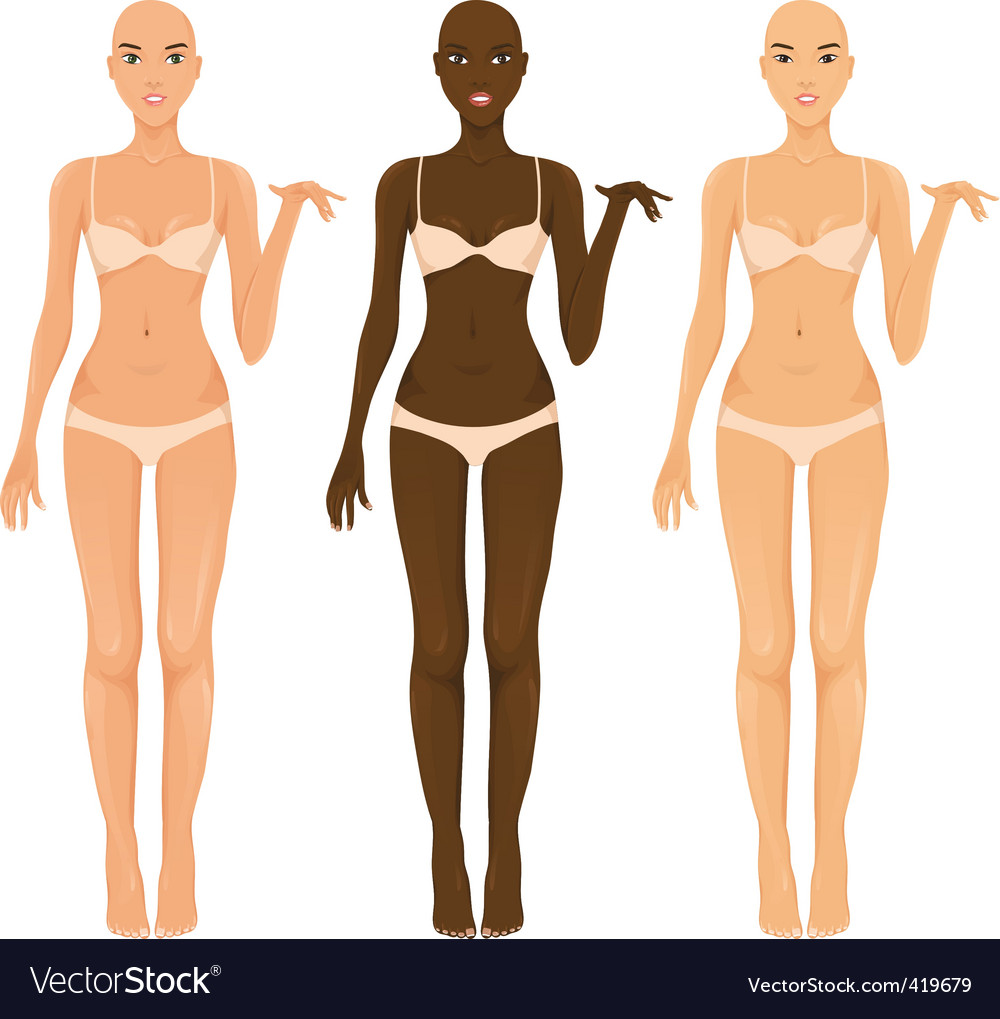 Female body vector | Price: 1 Credit (USD $1)