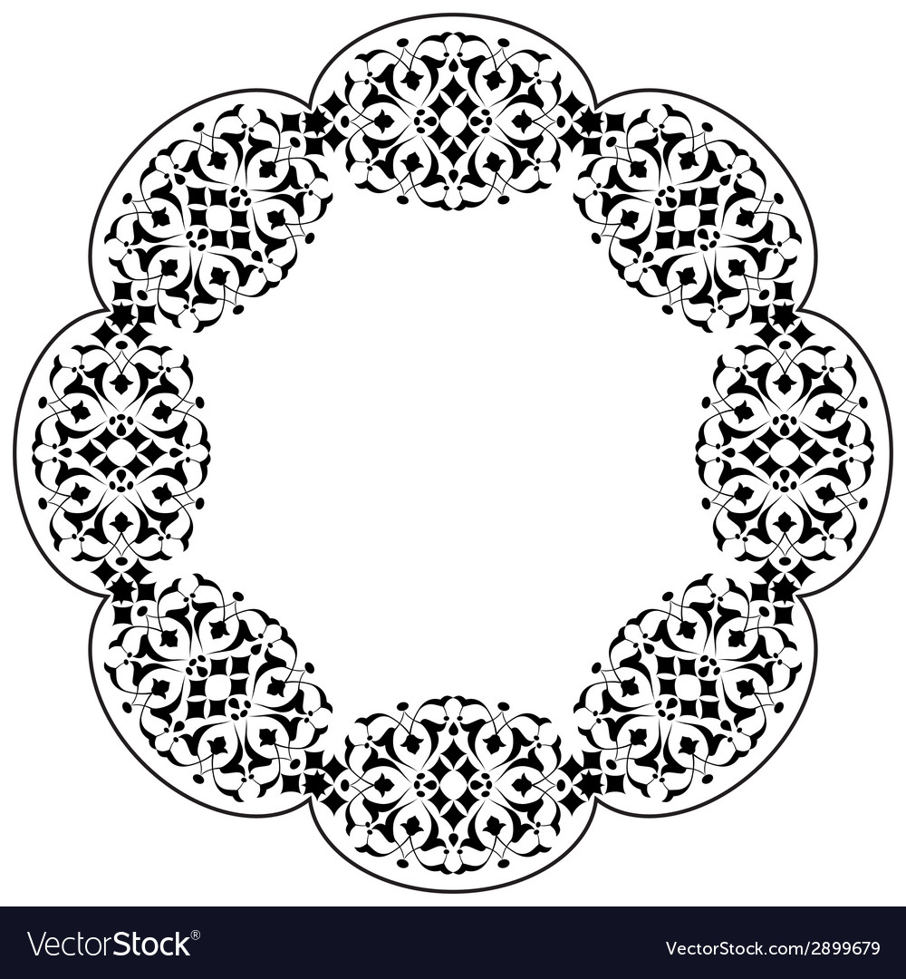 Ottoman motifs design series ninety three vector | Price: 1 Credit (USD $1)
