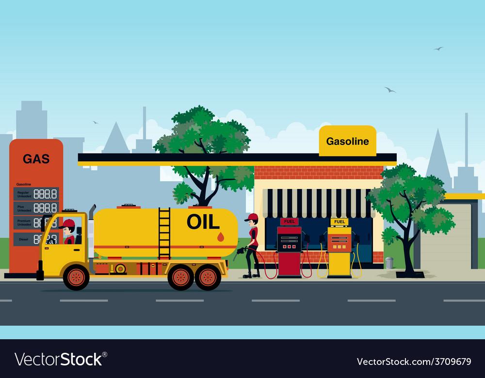 Petrol station vector | Price: 3 Credit (USD $3)