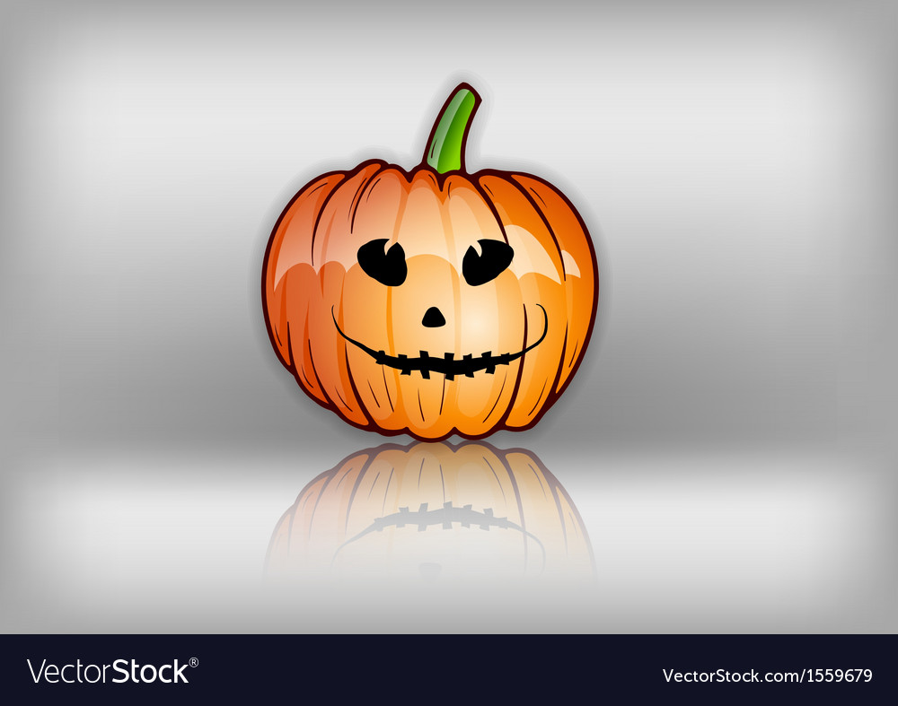 Pumpkin reflect grey vector | Price: 1 Credit (USD $1)