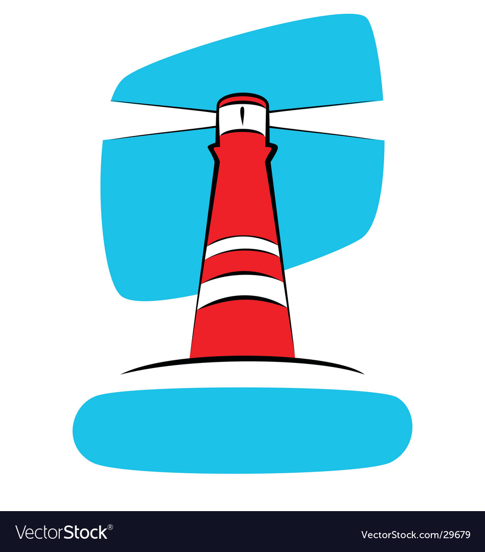 Red lighthouse vector | Price: 1 Credit (USD $1)