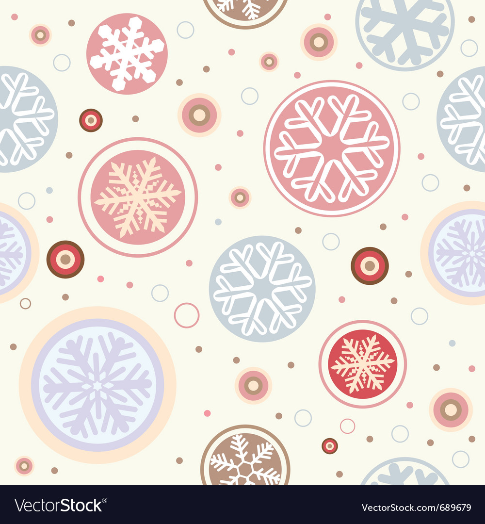 Snowflake seamless vector | Price: 1 Credit (USD $1)