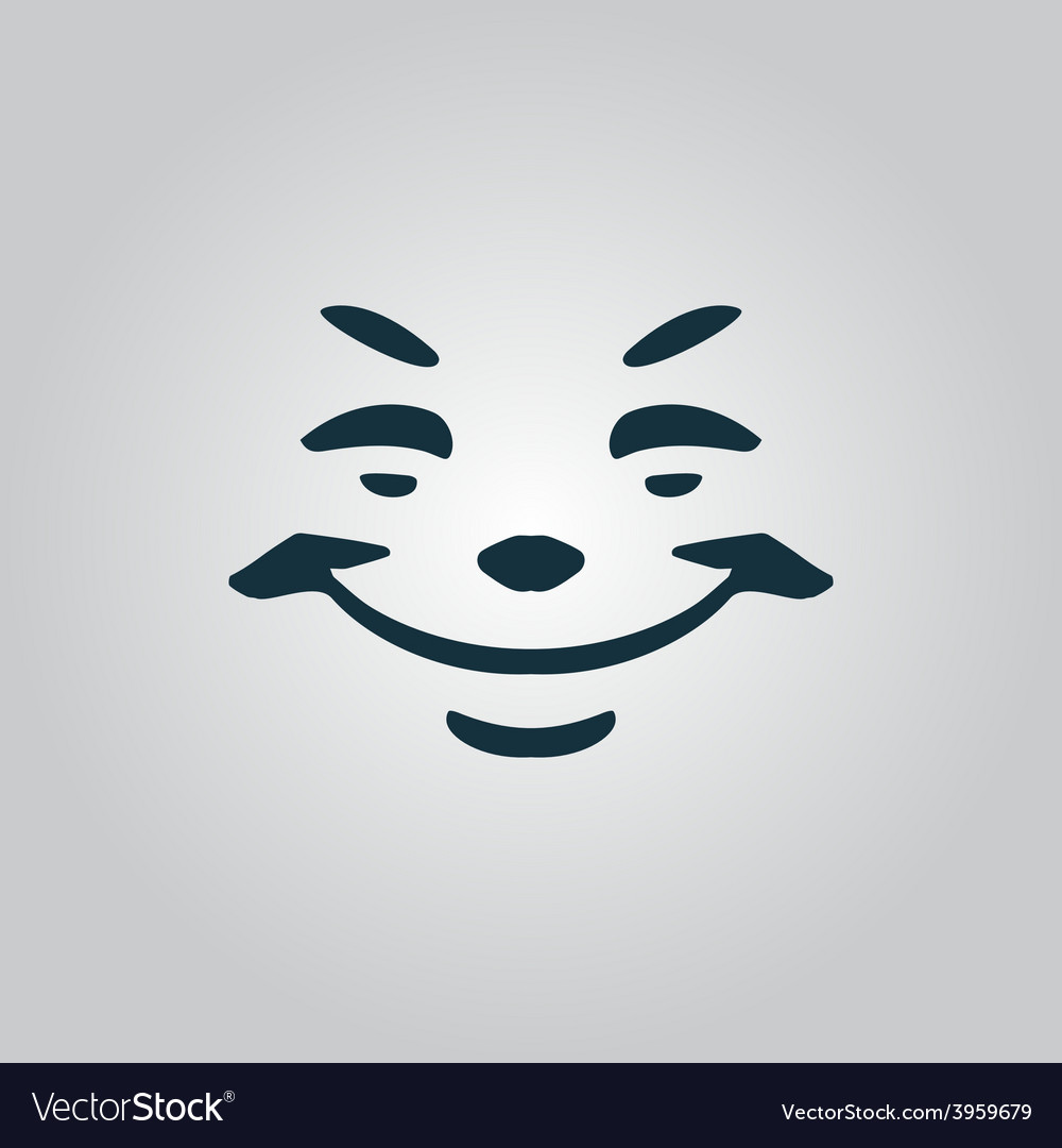 Universal smiling icon freehand drawing vector | Price: 1 Credit (USD $1)