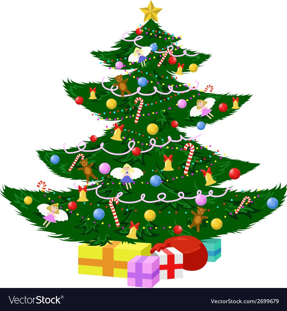 Wonderful christmas tree vector | Price: 1 Credit (USD $1)