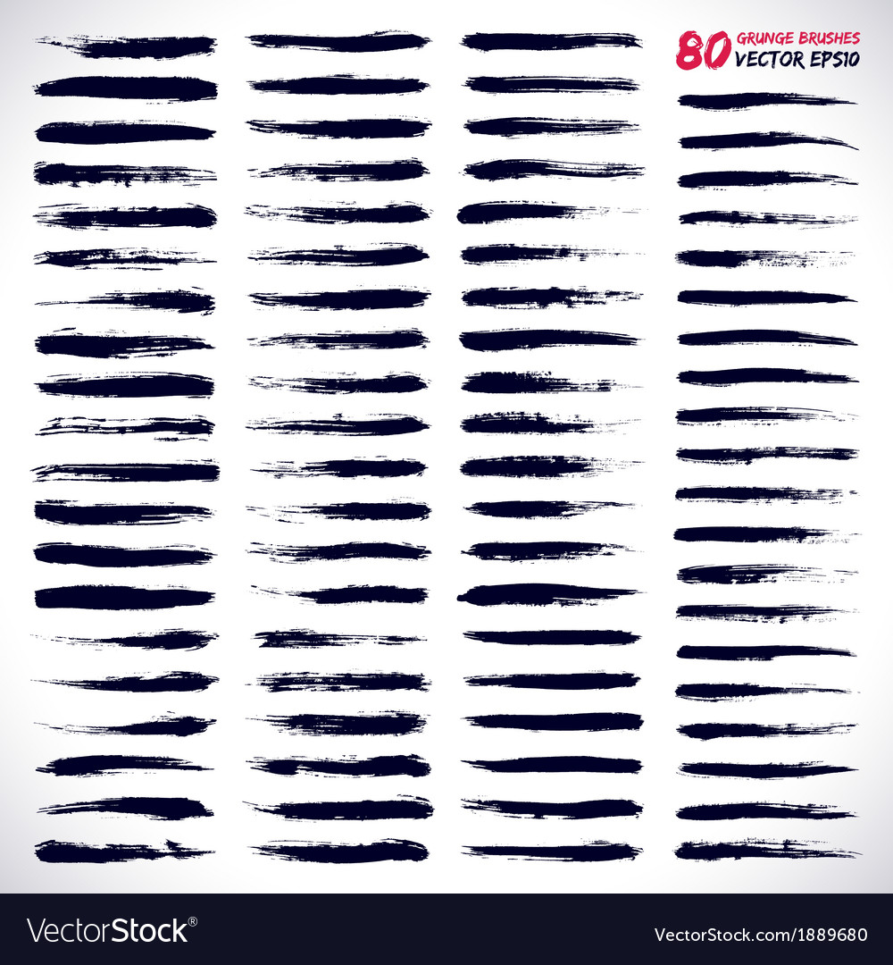 80 grunge brushes vector | Price: 1 Credit (USD $1)