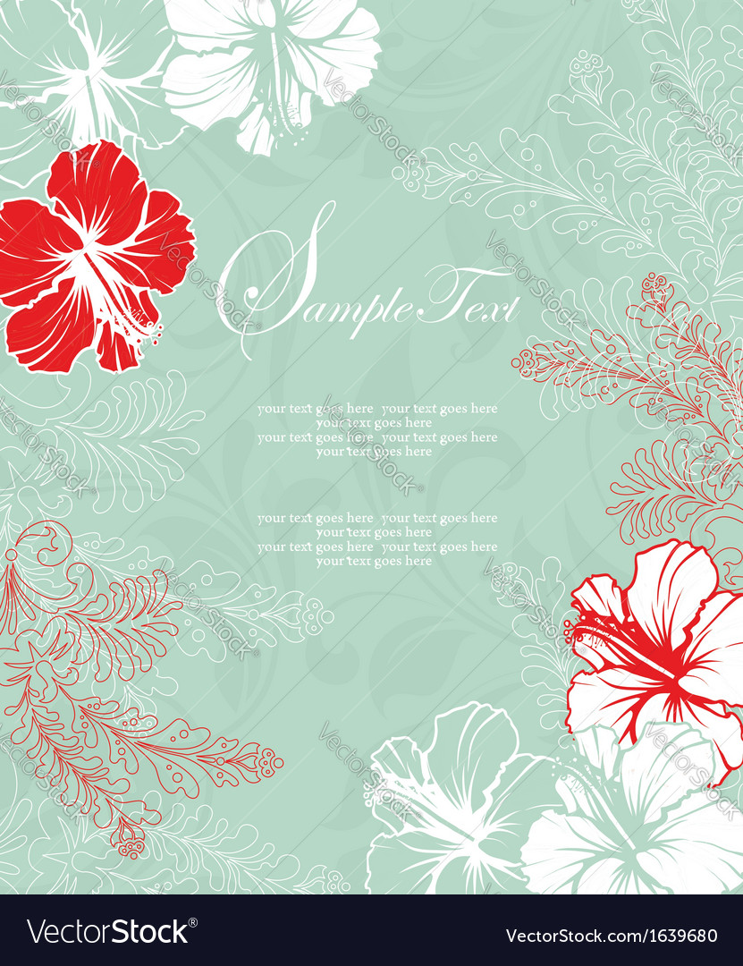 Bridal shower invitation card vector | Price: 1 Credit (USD $1)