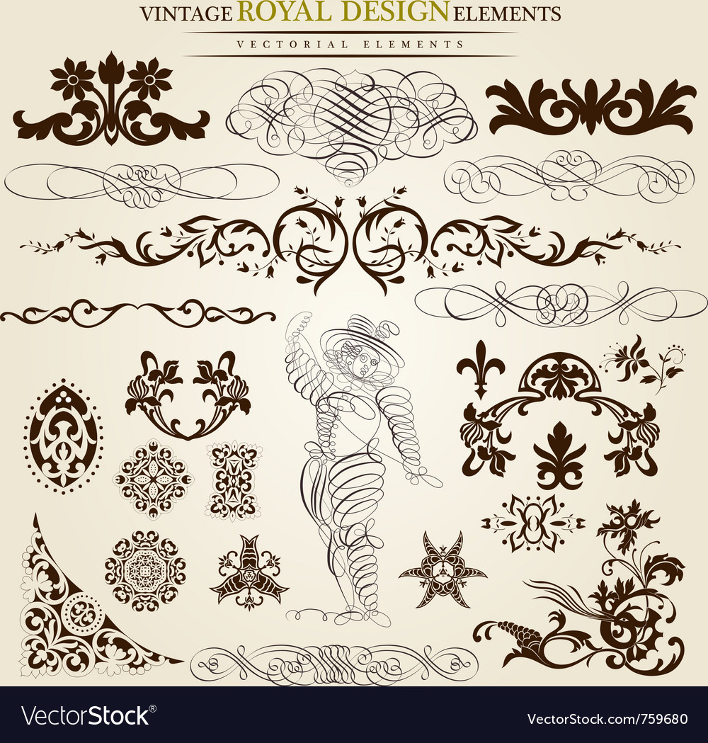 Calligraphic set vector | Price: 1 Credit (USD $1)