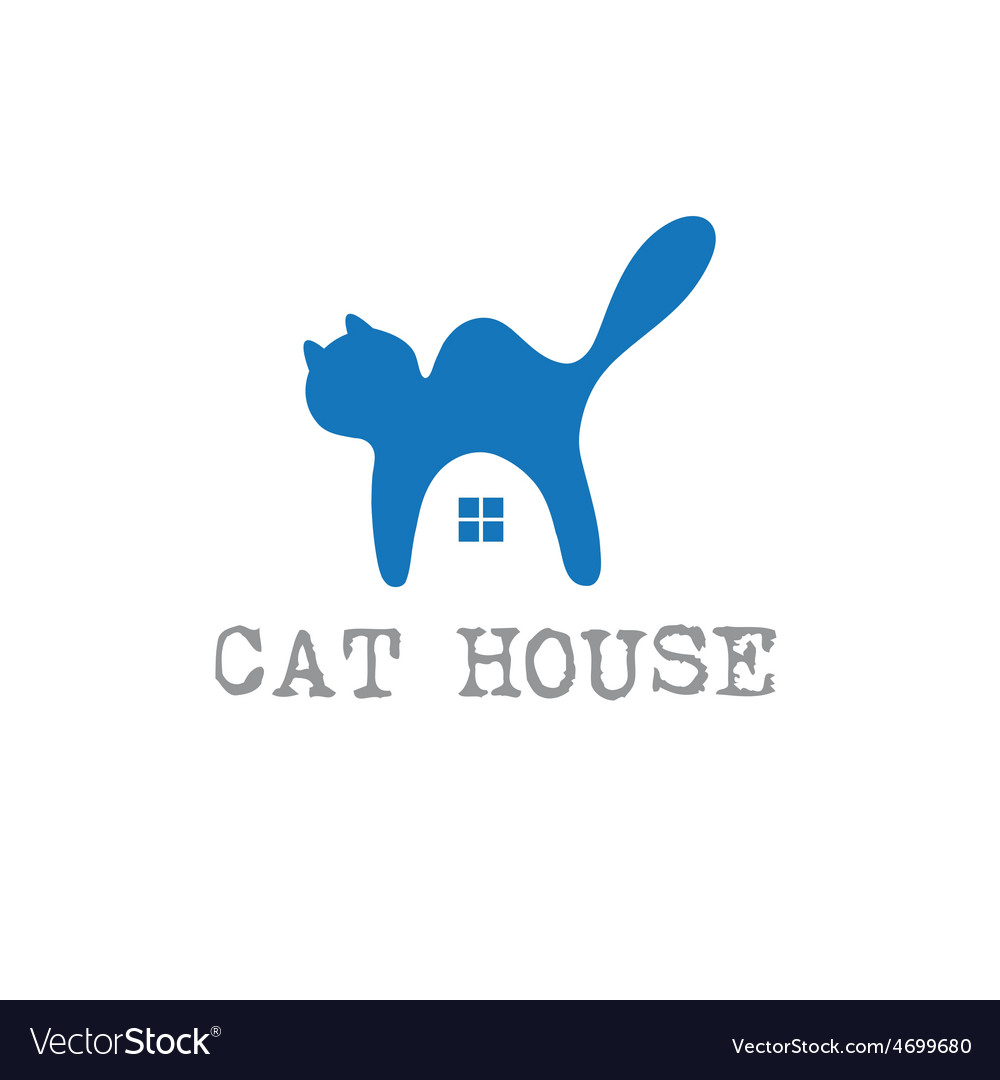Cat house concept design template vector   Price: 1 Credit (USD $1)