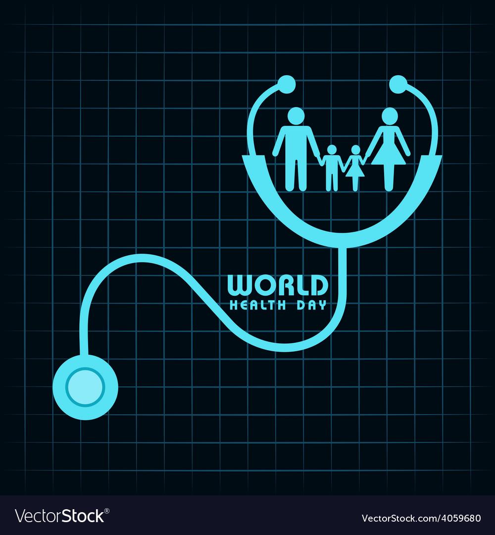 Creative world health day greeting vector | Price: 1 Credit (USD $1)