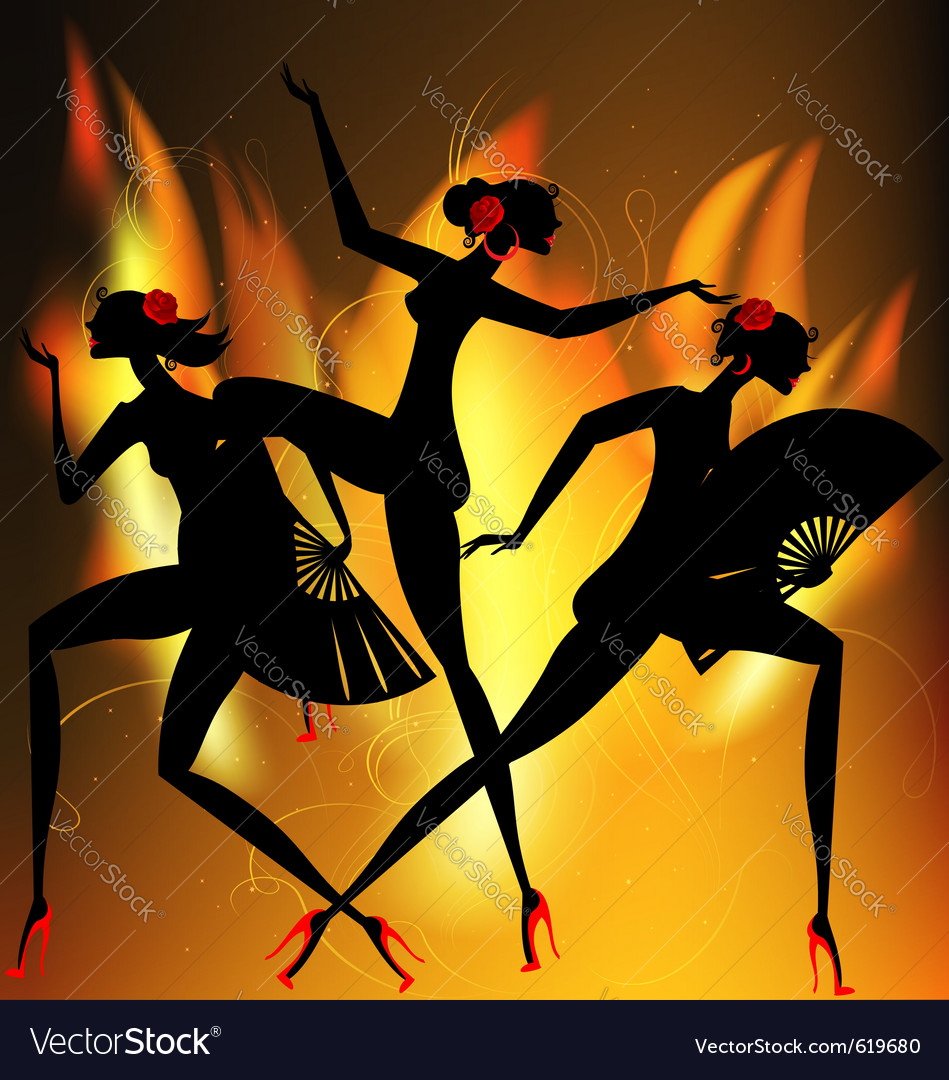 Flaming dance vector | Price: 1 Credit (USD $1)