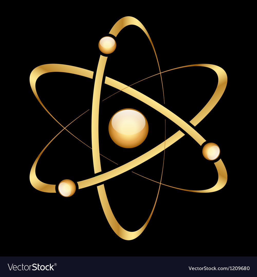 Gold atom vector | Price: 1 Credit (USD $1)