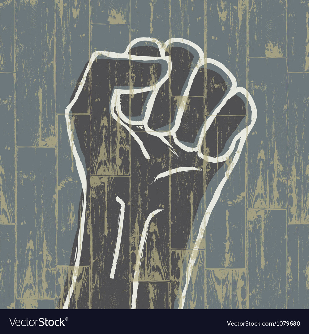 Grunge fist symbol vector | Price: 1 Credit (USD $1)