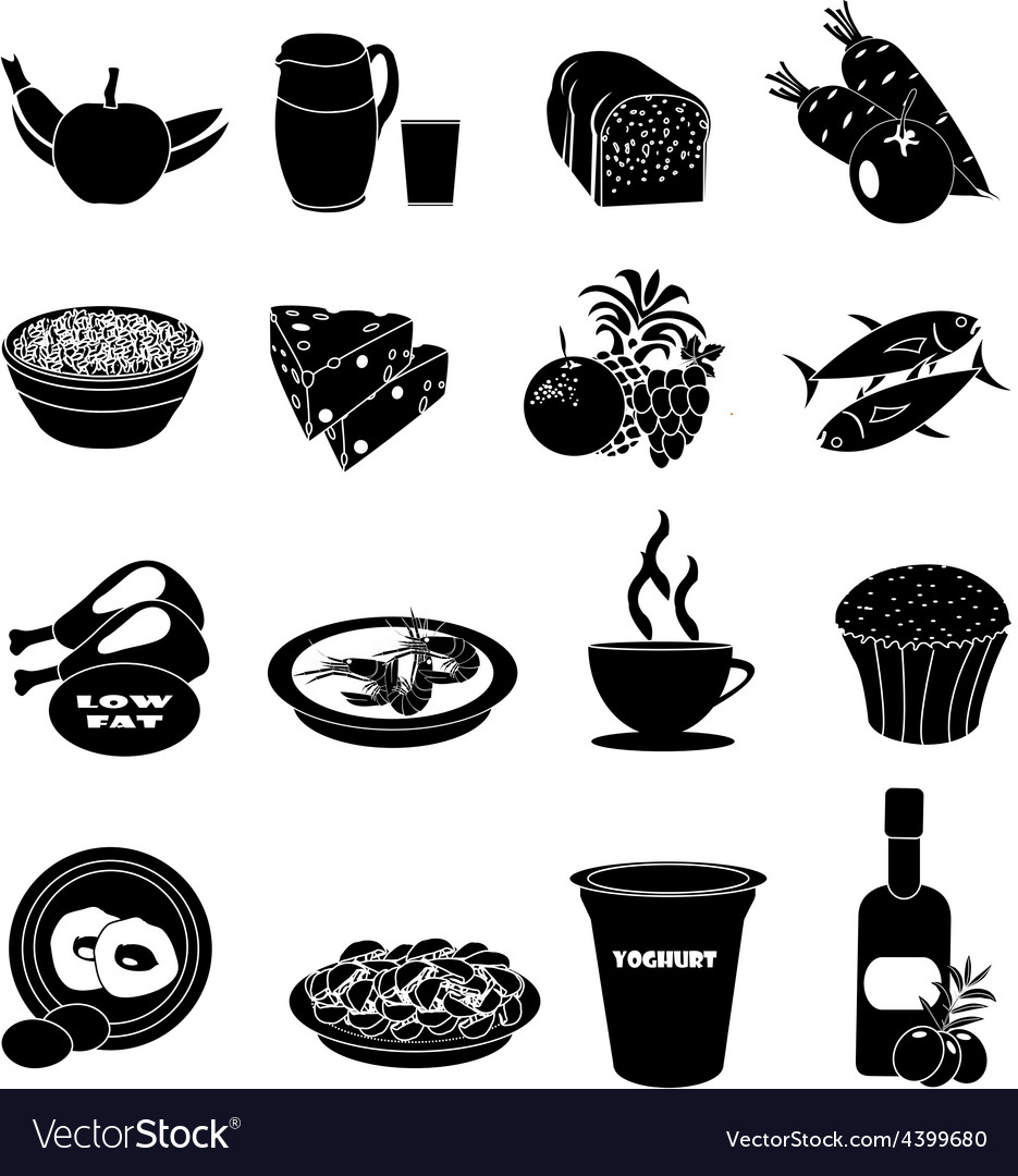 Healthy foods icons set vector | Price: 1 Credit (USD $1)