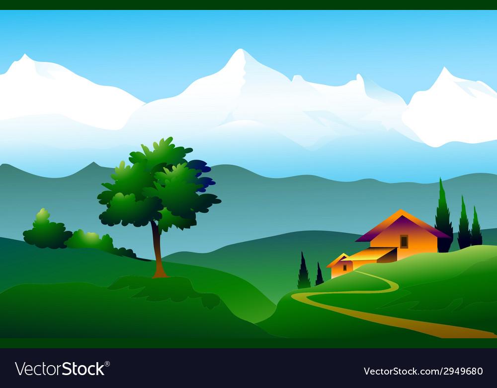 Himalayas landscape vector | Price: 1 Credit (USD $1)