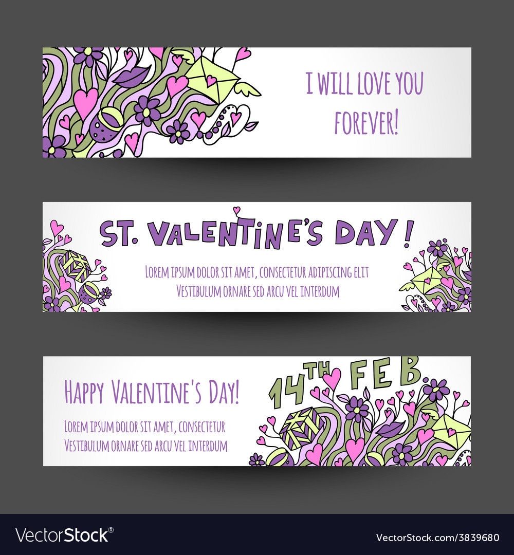 Love banners design vector | Price: 1 Credit (USD $1)