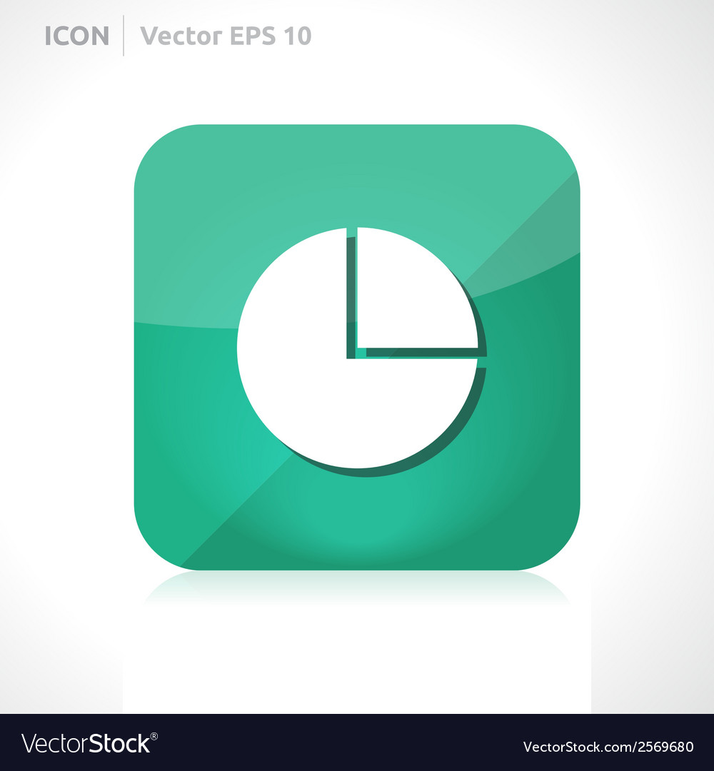 Pie graph icon vector | Price: 1 Credit (USD $1)