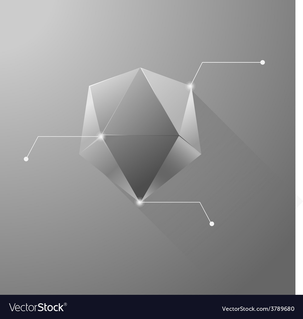 Polygon info graphic vector | Price: 1 Credit (USD $1)