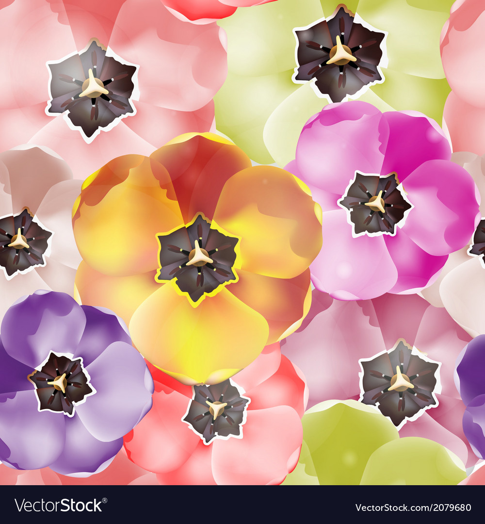 Seamless pattern tulips flowers  eps 10 vector | Price: 1 Credit (USD $1)