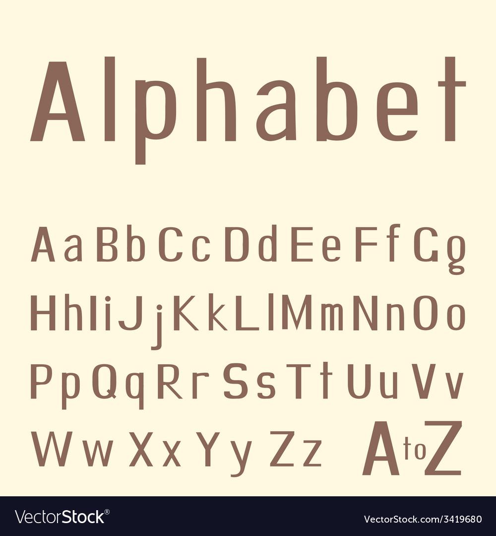 Stylish hand-drawn latin alphabet vector | Price: 1 Credit (USD $1)