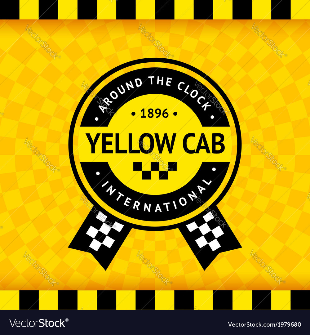 Taxi symbol with checkered background - 14 vector | Price: 1 Credit (USD $1)