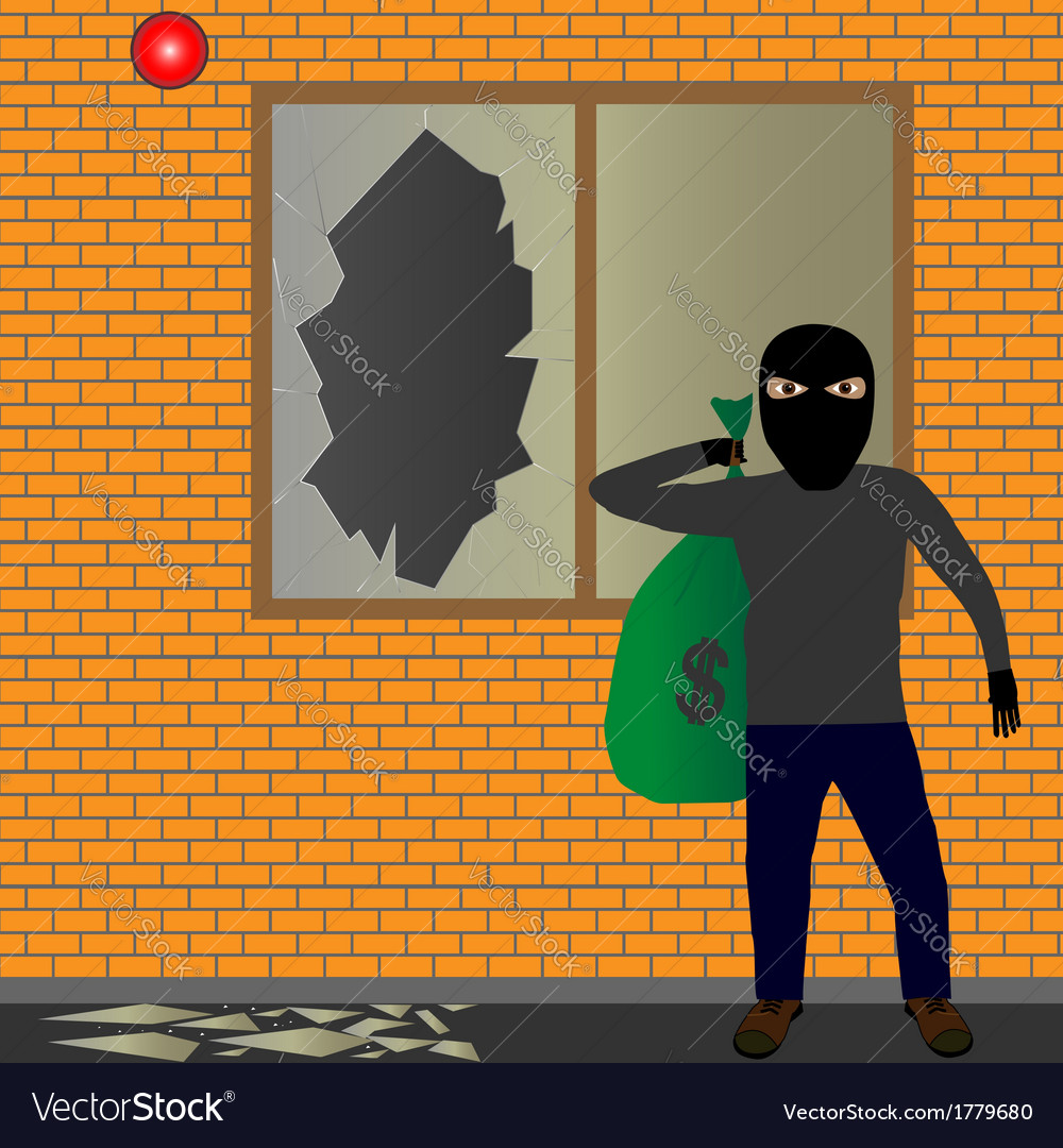 Thief with sack vector | Price: 1 Credit (USD $1)