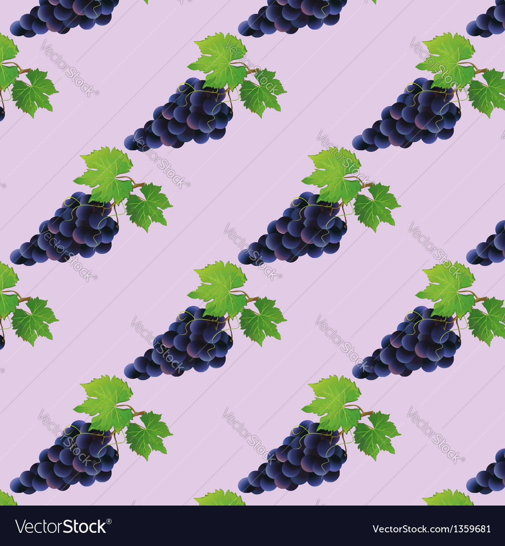 Background seamless pattern with black grape vector | Price: 1 Credit (USD $1)