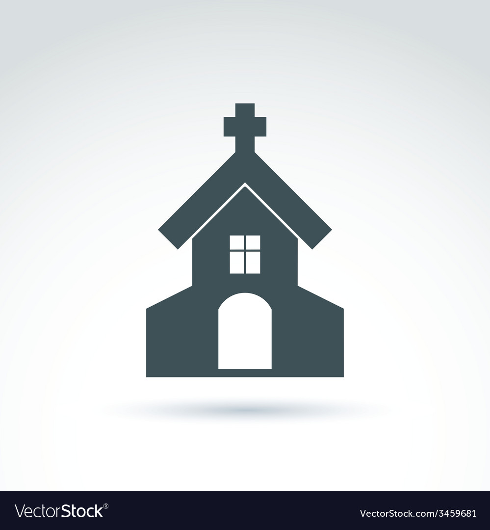 Christian church with a cross of a temple vector | Price: 1 Credit (USD $1)