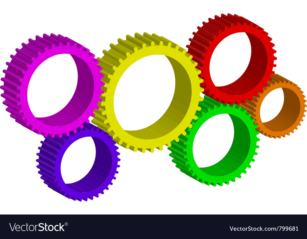 Colorful cog-wheels vector | Price: 1 Credit (USD $1)