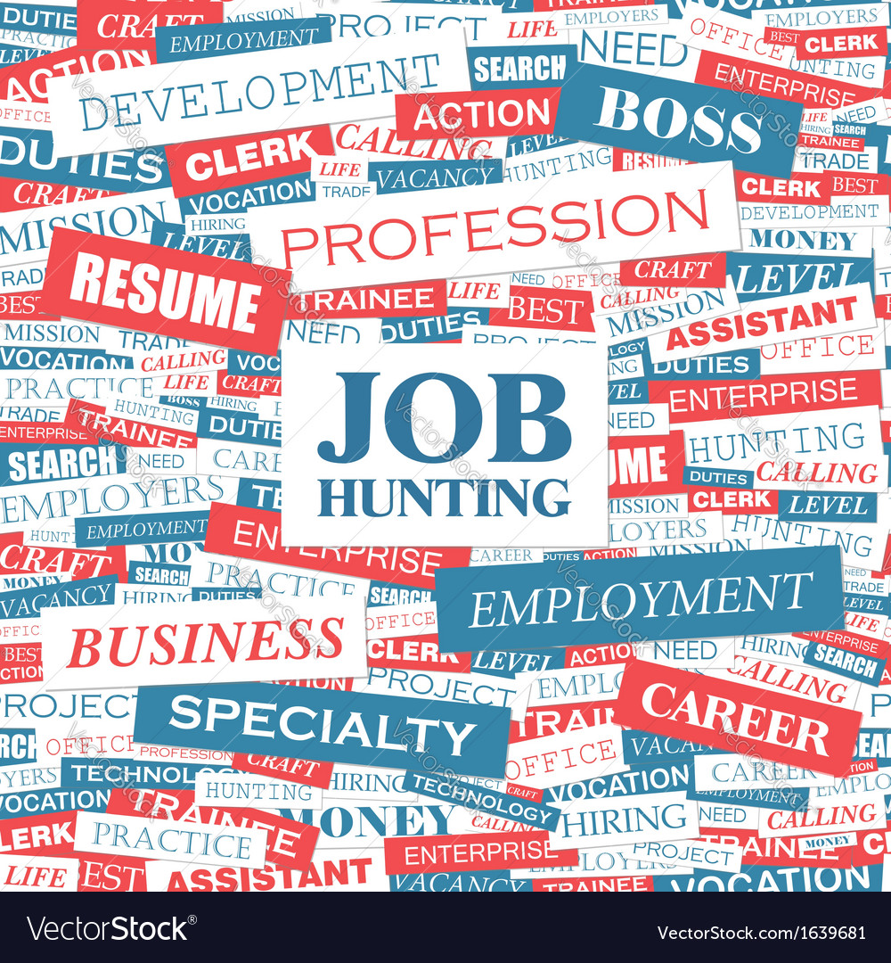 Job hunting vector | Price: 1 Credit (USD $1)