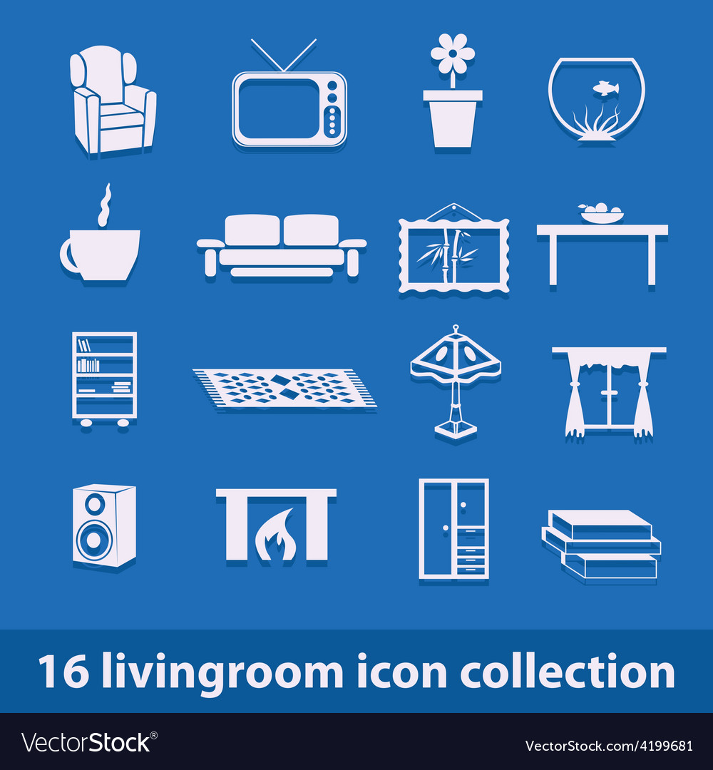 Living room icons vector | Price: 1 Credit (USD $1)