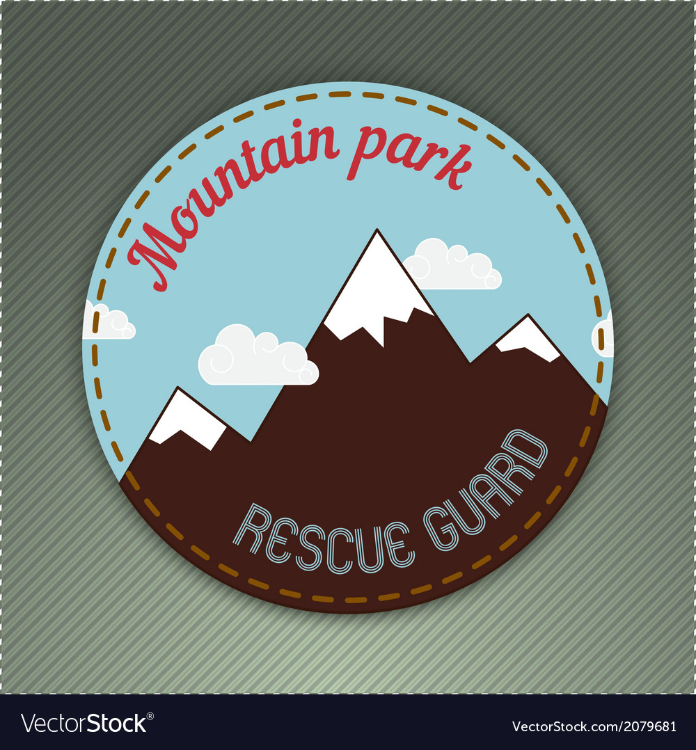 Mountain themed outdoors emblem vector | Price: 1 Credit (USD $1)
