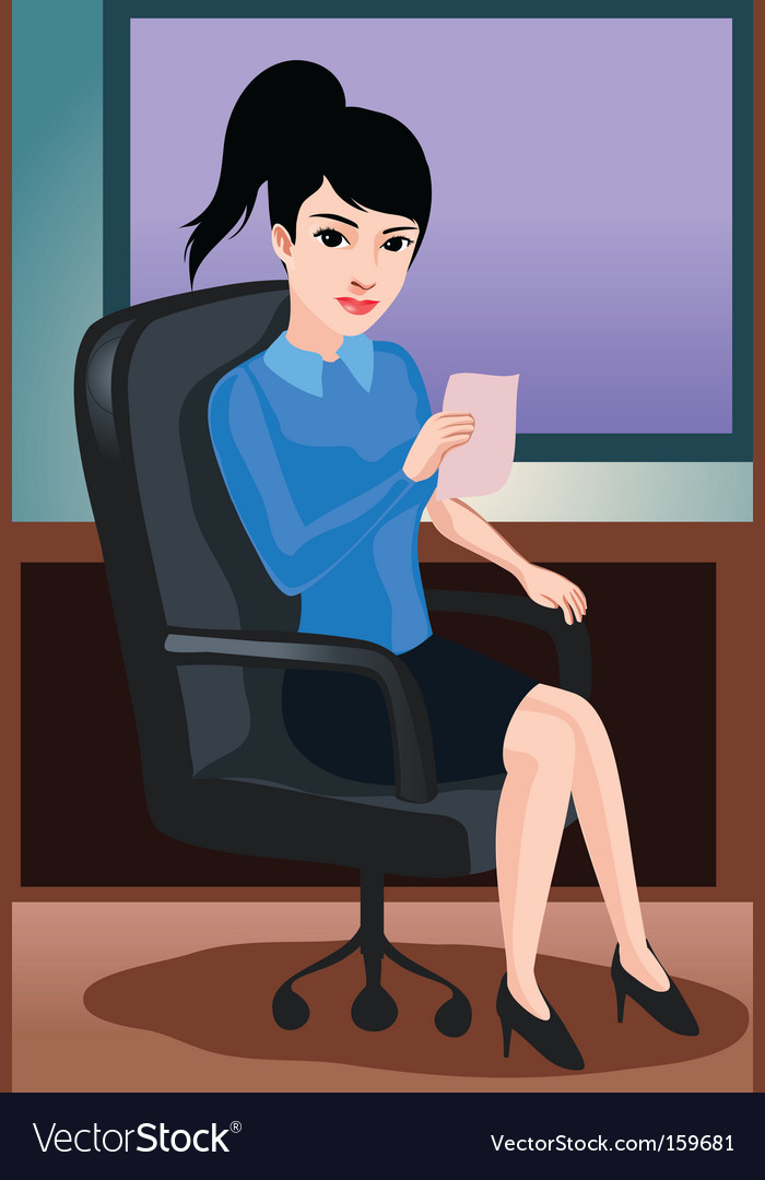 Office lady vector | Price: 1 Credit (USD $1)