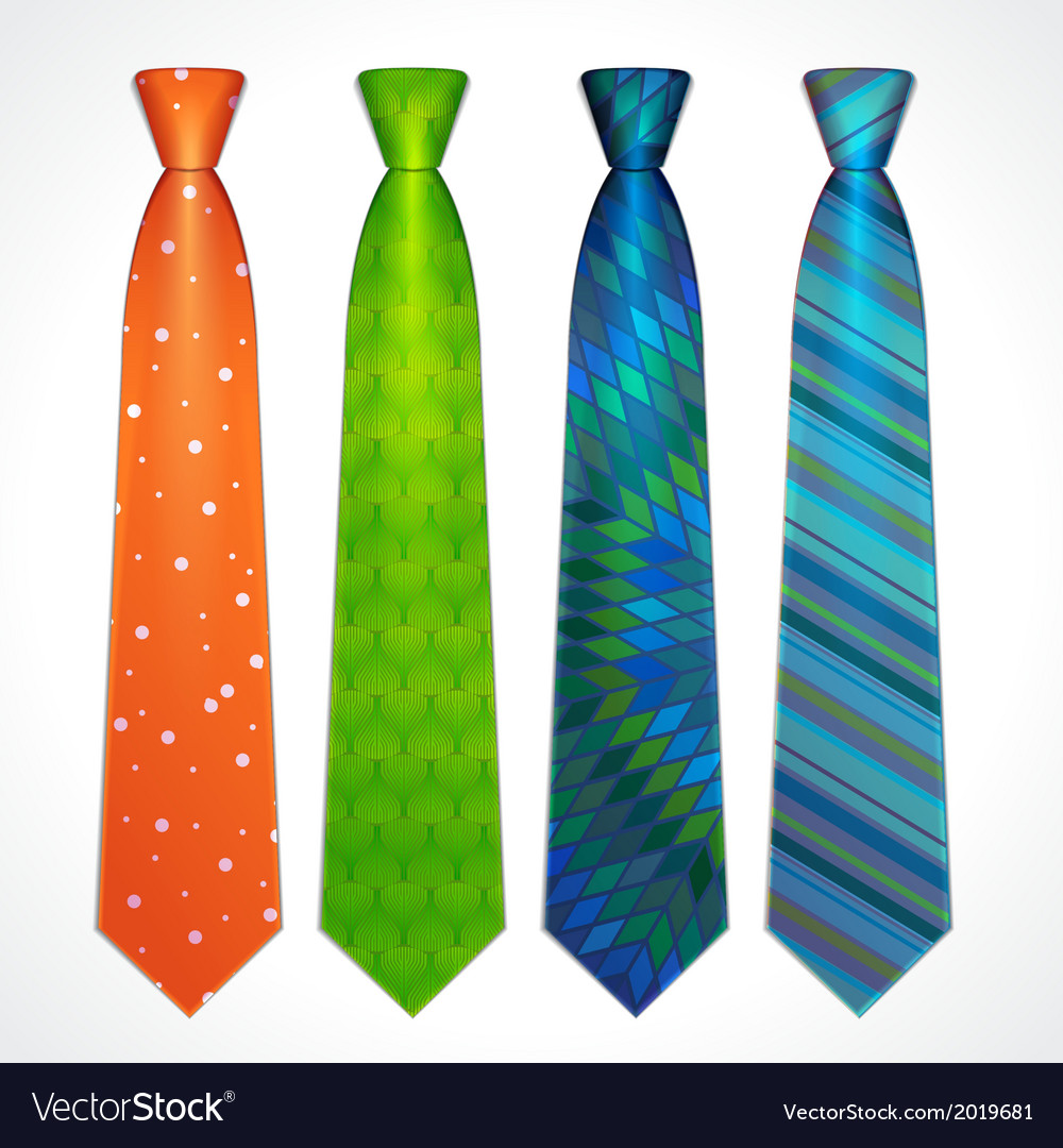 Set of colorful neckties vector | Price: 1 Credit (USD $1)