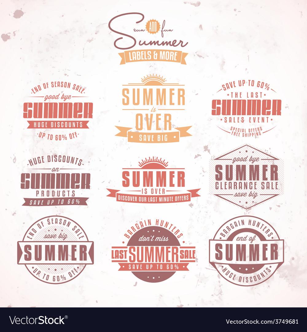Summer sales labels vector | Price: 1 Credit (USD $1)