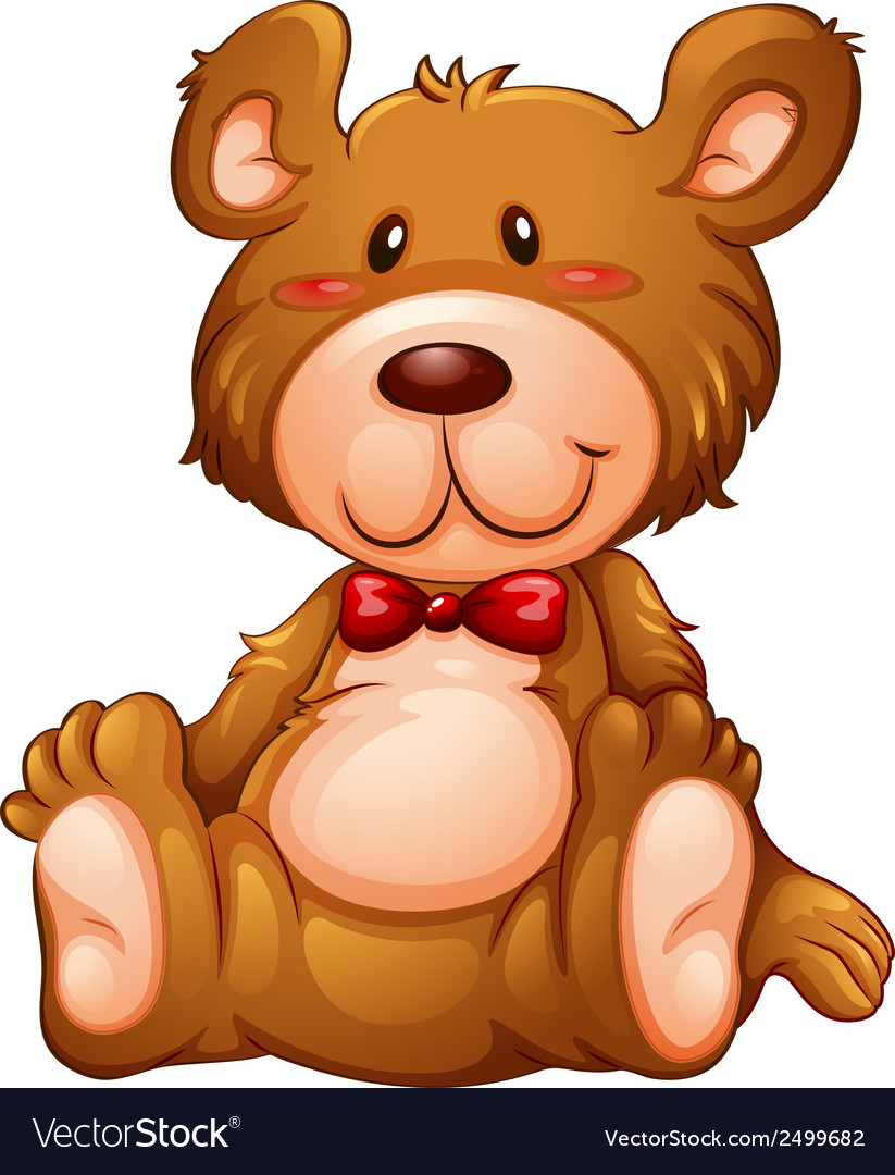 A huggable brown bear vector | Price: 1 Credit (USD $1)