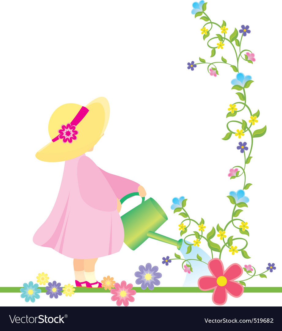Atering flowers in the garden vector vector | Price: 1 Credit (USD $1)