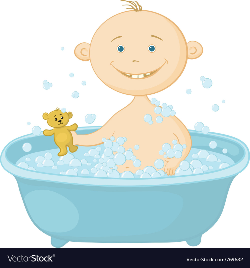 Baby wash in the bath vector | Price: 3 Credit (USD $3)
